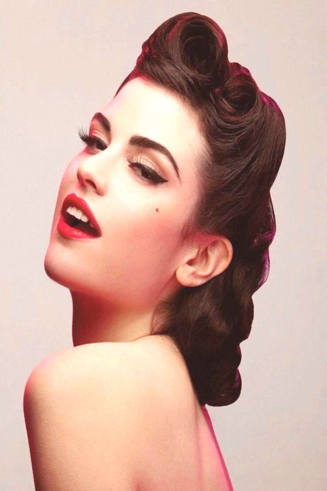 ▷ 1001 + ideas   Pin-up makeup - the retro style of the 50s - -