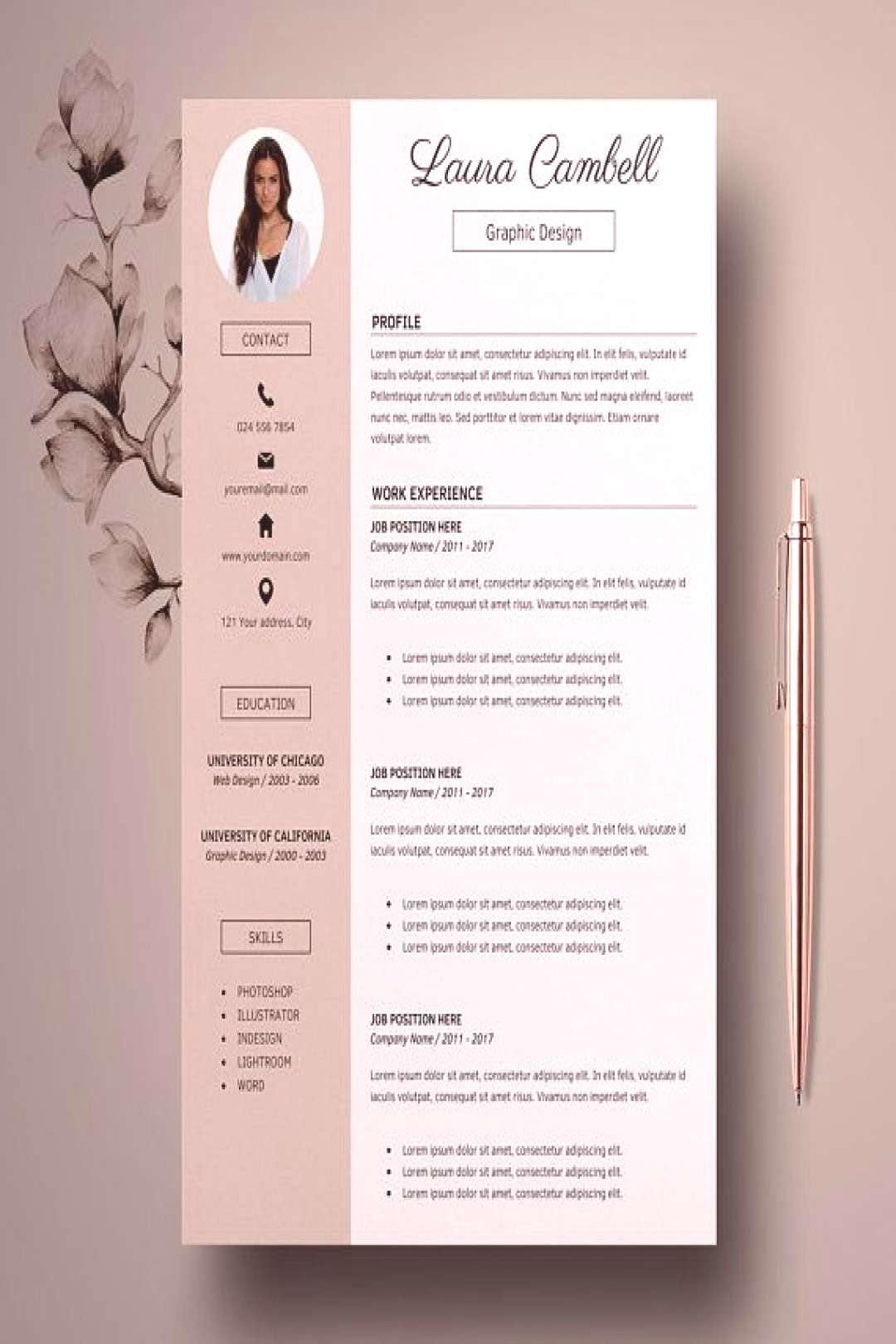 ✰✰✰ SPRING SALE - Limited time: 3 resumes for 12$ USD, use code RESUMES ✰✰✰ Template ca