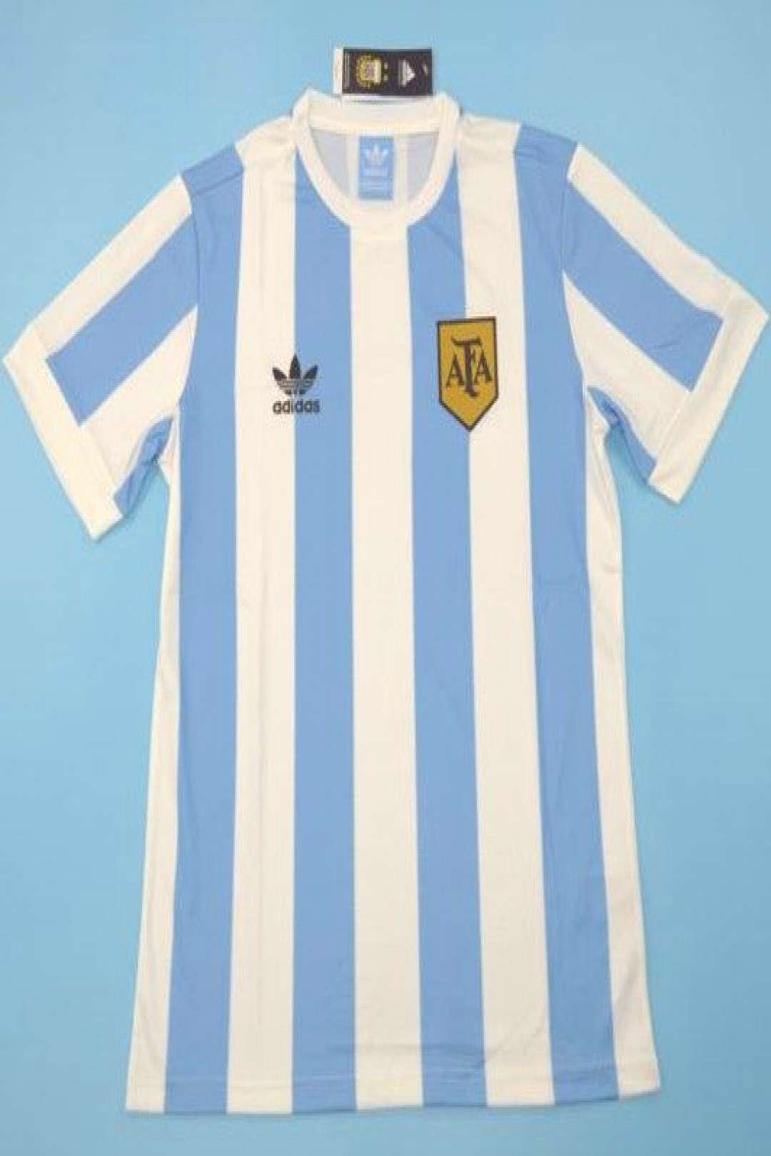 1978 Retro Version Argentina Home Blue and White Thailand Soccer Jersey AAA wholesale#thailand socc