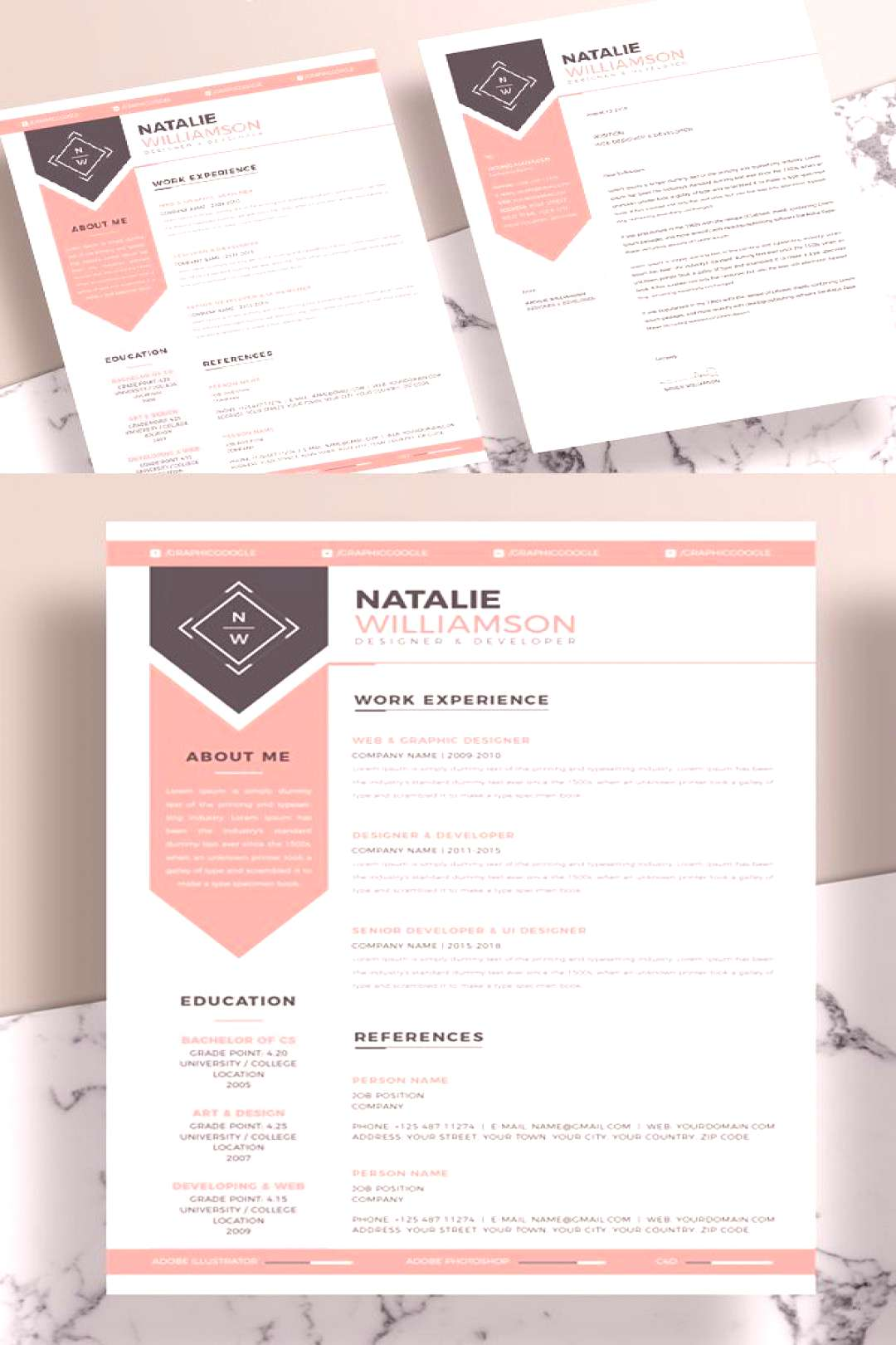 25 Fresh Free Professional Resume Templates - 19