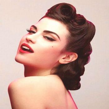 ▷ 1001 + ideas | Pin-up makeup - the retro style of the 50s - -