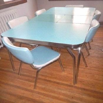 1950s Retro Kitchen Table and Chair Awesome Vintage 1950 S formica Kitchen Table... - -