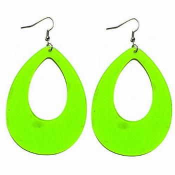 1980s Fashion Retro Neon Nation Circular Oval Earrings for