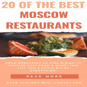 20 Best Restaurants in Moscow, Russia Written by a Local // Suggestions ranging from breakfast plac