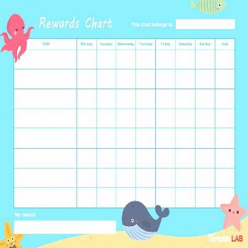 44 Printable Reward Charts For Kids (Pdf, Excel & Word) with regard to Reward Chart Template Word -
