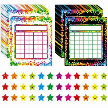 66 Pack Classroom Incentive Chart in 2 Designs with 2024