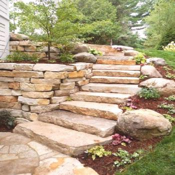 70+ Trendy landscaping ideas retaining wall stone steps 70+ Trendy landscaping ideas retaining wall