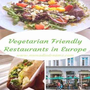 8 Vegetarian Friendly Restaurants For Your Next Europe Trip | Nomadic Dreamz and in cities like etc