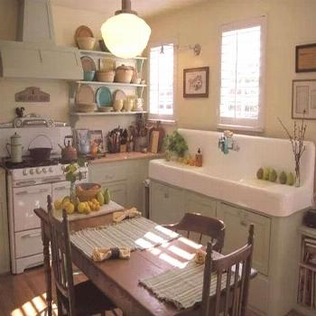 95 Gorgeous Retro Tiny House Farmhouse Kitchen Ideas -  95 Gorgeous Retro Tiny House Farmhouse Kitc