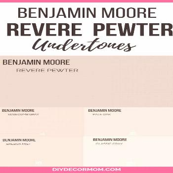 Benjamin Moore's Revere Pewter is the perfect gray paint color for your living room! It is a wonder