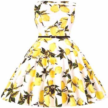 Buy JAEDEN Vintage 1950s Retro Rockabilly Prom Dresses Sleeveless Classy Cocktail Party Swing Dress