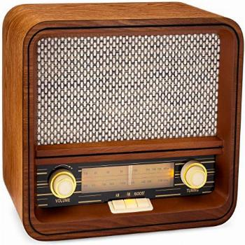 ClearClick Classic Vintage Retro Style AM/FM Radio with