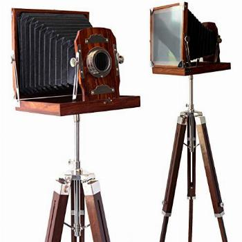 collectiblesBuy Vintage Look Wooden Folding Camera with