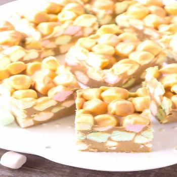 Confetti squares just like grandma made! Also known as peanut butter marshmallow squares - these ar