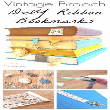 Create simple, lovely bookmarks by repurposing a vintage or retro brooch (hello,... Create simple,
