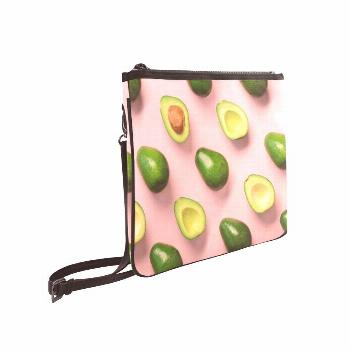 Crossed Body Bags Green Cute Healthy Retro Avocado Fruit Adjustable Shoulder Strap Ladies Handbag F