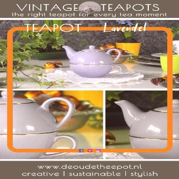 De Oude Theepot | Vintage Teapots | Lavender Love € 7,95 Teapot is in excellent condition (no chi