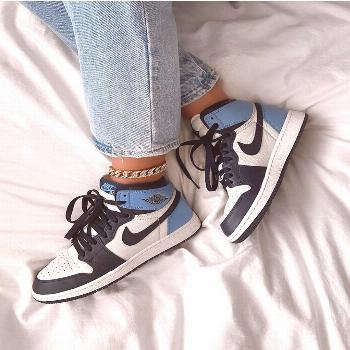designer shoes sneakers designer shoes sneakers Jordan 1 Retro High Obsidian UNC-#High