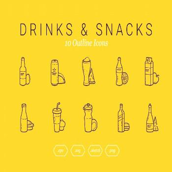 Drinks with some snacks ,