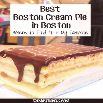 Everyone knows the popular dessert Boston Cream Pie. Did you know it originated in Boston too? Here