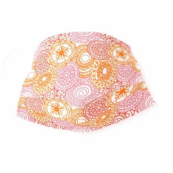 Funky Summer Pink Orange Red Floral Art Pattern Cloth Face Mask - Keep our essential workers safe.