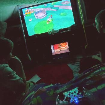 Got my nephews over and decided to make us a blanket fort and we decided to play some 3 man super M