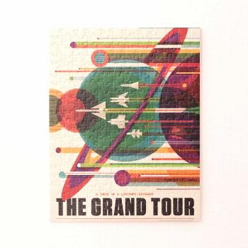 Grand Tour Retro NASA Travel Poster Jigsaw Puzzle
