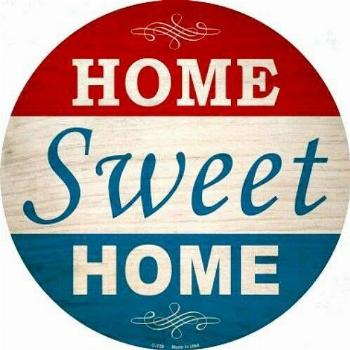Home Sweet Home Red White Blue 12