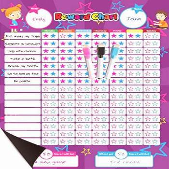 Magnetic Reward Behavior Star Chore Chart for One or Two