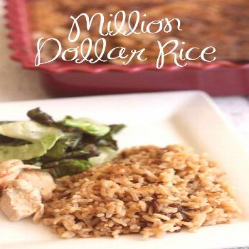 Million Dollar Rice is a delicious side dish to serve with fish, grilled chicken, or roast beef. Yo