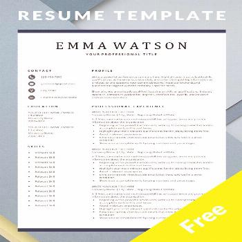 Modern Resume Template - Download for Free Are you looking for a free, editable resume template? Si