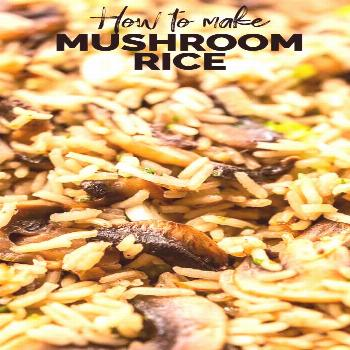 Mushroom rice is a super tasty side dish. This one pot recipe is vegan and made with vegetable brot