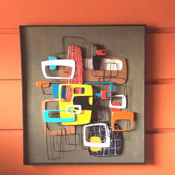 New 2017 Version - Modern Mid Century Modern Danish Abstract Art Wall Sculpture Painting Retro Eame