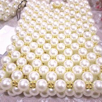 Pearl bag 2020 Ladies Coin Purse Mini Pearl Bag Handmade Retro EVA Beaded Fashion Party Party Shoul