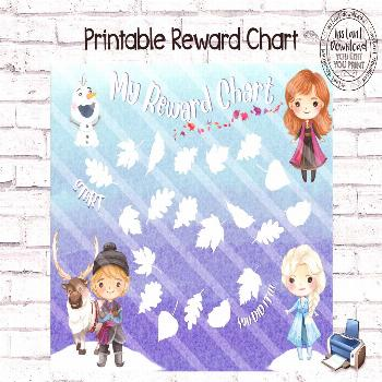Printable Reward Chart, Frozen 2 Reward Chart, Frozen Potty Chart, Frozen Behavior Chart, DIY Rewar