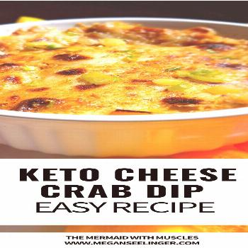 Recipe for crab dip with cream cheese. This keto crab dip is baked and served with rainbow bell pep