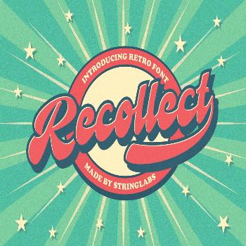 Recollet is a Retro bold script with Vintage style. unique design taste and combine with classic re