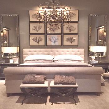 Restoration Hardware Tampa- Part One - Starfish Cottage | reminds me of our master bedroom | lovely