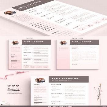 Resume/Cv Template Resume Template with Matching Cover Letter and References Page. Professional Res