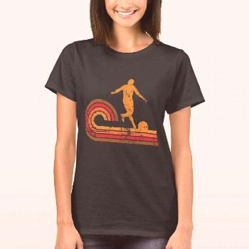 Retro Style Kickball Player Silhouette Kickball T-Shirt