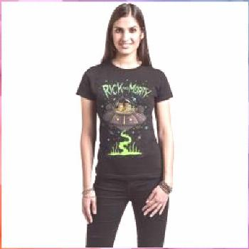 Rick And Morty Spaceship T-Shirt of animation art Online painting futurism fi fi environment fictio