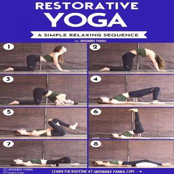 Switch up your usual yoga routine for this relaxing restorative yoga sequence that will help calm a