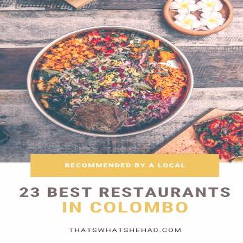 The best restaurants in Colombo, Sri Lanka, recommended by a local. These are my favorite, tried an