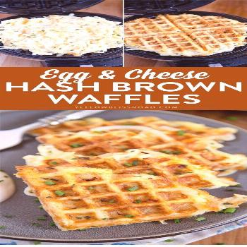 These easy cheesy hash brown waffles are just the hack you need to simplify your breakfast routine!