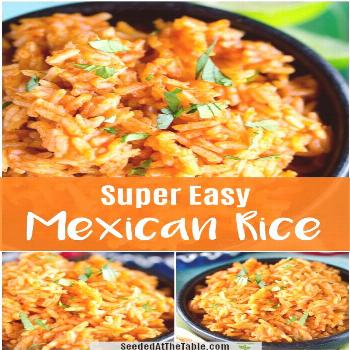 This Mexican Rice recipe is SO easy that you'll want to make it for all of your Mexican dishes! You