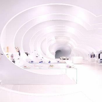 This retail interior - designed as an optical illusion - is as practical as it is spectacular - New