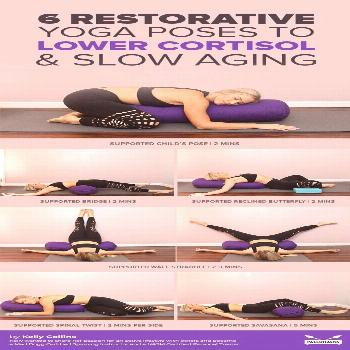 Tough day? Try this calming, restorative yoga routine to naturally lower your cortisol levels and f