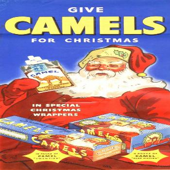 vintage everyday: 25 Vintage Cigarettes and Tobacco Advertisements Featuring Santa Claus