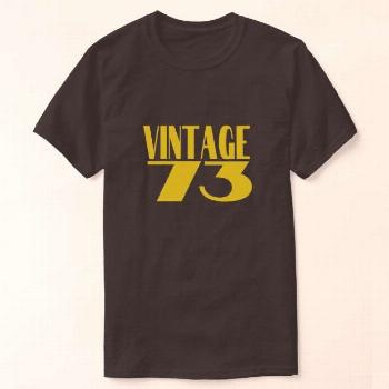 Vintage73 Gold Retro Style T-Shirt