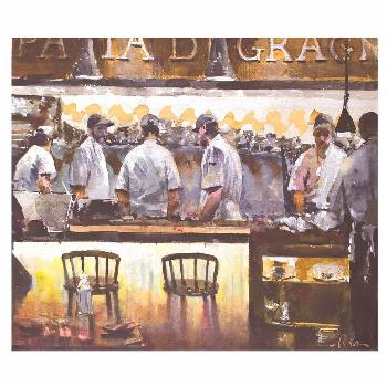 Watercolor, Eataly restaurant by the Big Bad Gorilla